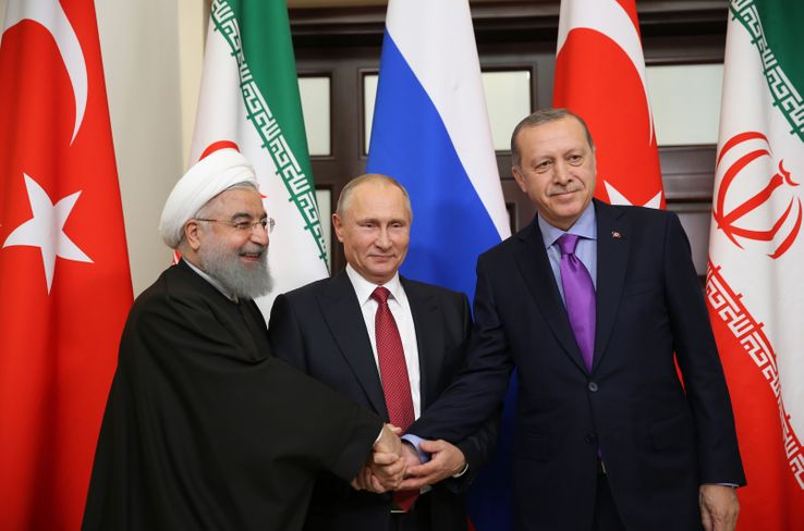 Tahranda Erdoğan, Putin ve Ruhaninin gerçekleştirdiği İdlib zirvesi sona erdi