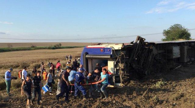 Tekirdağdaki tren kazasıyla ilgili 2 makinist, ifade vermeye çağrıldı